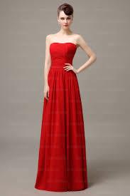 red prom dress long bridesmaid dress simple prom dress cheap