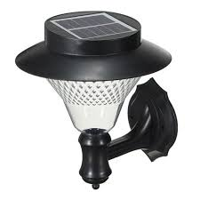 solar outdoor led light fixture pole post wall mount kit for