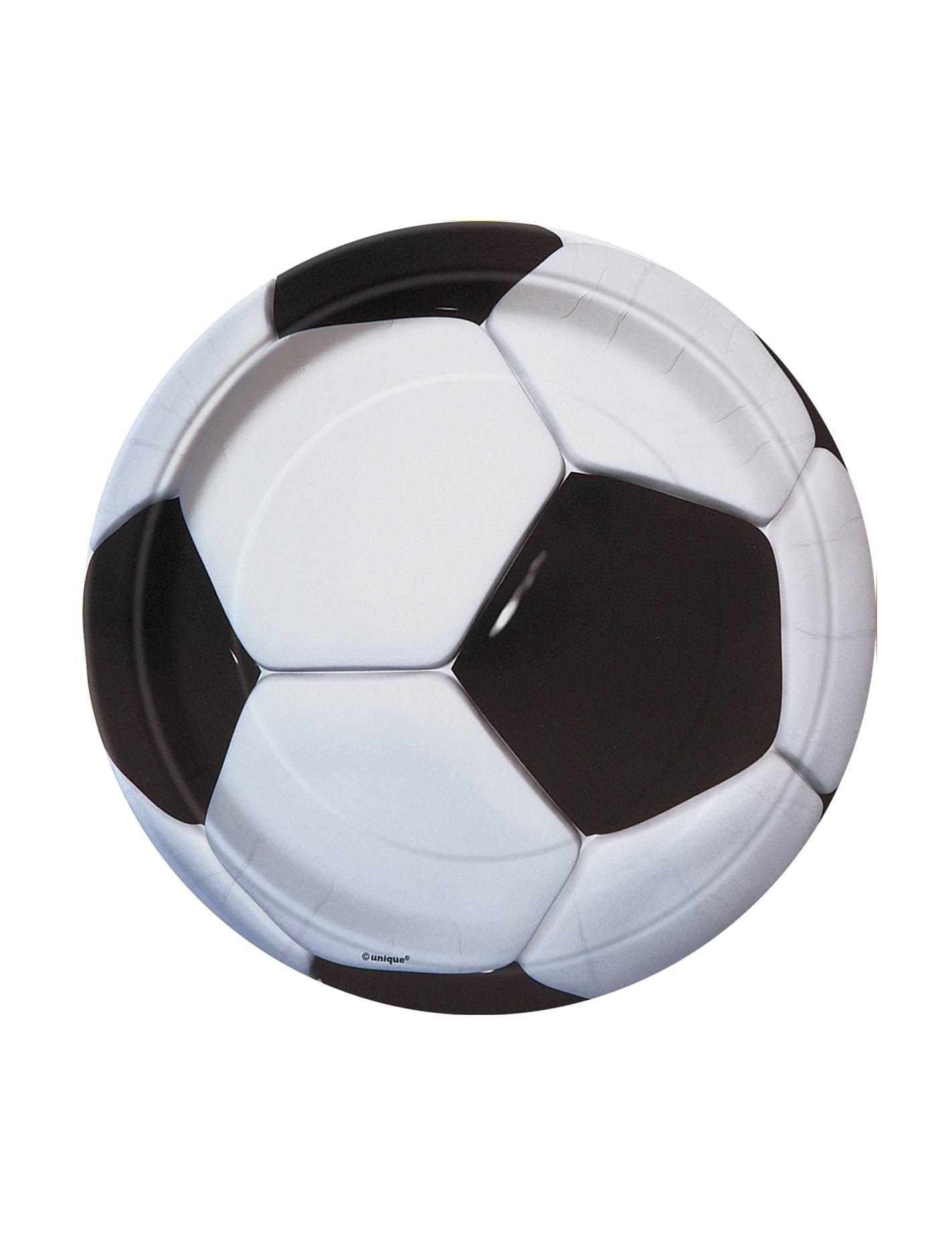 Unique Soccer Dessert Plates - 8ct