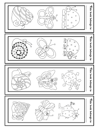 Library Bookmarks To Color