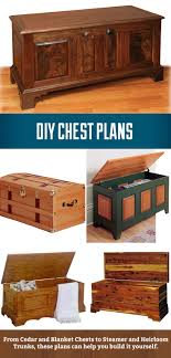DIY Chest Plans from cedar and blanket chests to heirloom and