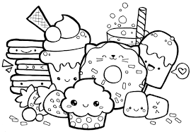 Kawaii Food Coloring Sheets Sushi Pages Free And