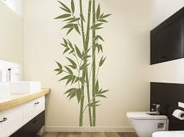 wandtattoo hoher bambus