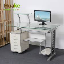 Tempered Glass Computer Desk by Creative Of Glass Computer Desk With Drawers Alluring Modern
