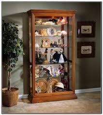 Pulaski Oak Corner Curio Cabinet by Glass Curio Cabinet Brass Glass Curio Cabinet Mirror Display