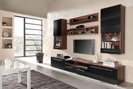 moderne tv wohnwand in schwarz pflaume hochglanz schöner wohnzimmer schrank mit vitrine aus stabilem mdf holz anbauwand inkl led