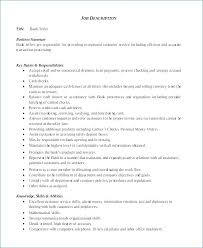 Resume Examples For A Bank Teller Samples Free Resumes Example Job
