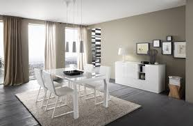 Beautiful Dining Room Set For Apartment Design With White Table Plus Modern Chair