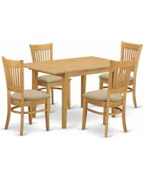 East West Furniture Norfolk 5 Piece Hepplewhite Modern Dining Table Set