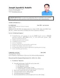 New Resume Format In The Philippines For Call Center Job Awesome Sample No Experience Free Ojt