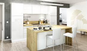 cuisine blanche plan travail bois plan de travail bois cuisine cuisine en verre laqu et stratifi