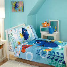 amazon com disney finding dory bubbles 4 piece toddler bedding