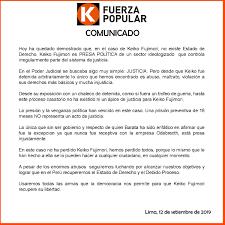 Media Tweets By Partido Político Fuerza Popular