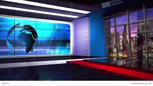 Lovely Green Screen Background Images And News TV Studio Set 36 Virtual Loop Stock Video Footage