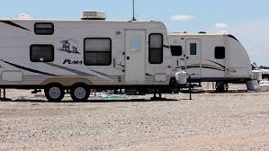 2 Camping Trailers In Campgrounds Oklahoma