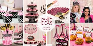 Pink And Gold Birthday Decorations Canada by A Day In Paris Party Supplies Party City