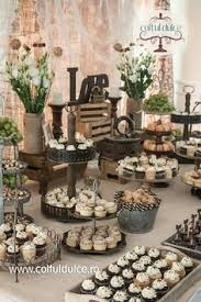 Rustic Theme Vintage Candy Bar Dessert Table Coltul Dulce