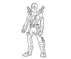 Printable Deadpool Super Hero Coloring Pages 3