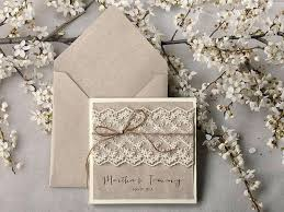 Shabby Chic Wedding Invites Rustic Invitations Invitation Suite Lace Pocket Fold