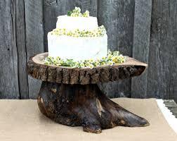 Tree Slice Wedding Cake Stand