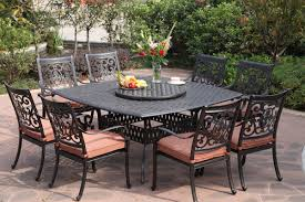 Red Patio Furniture Canada by Darlee St Cruz 10 Piece Cast Aluminum Patio Dining Set Patio Table
