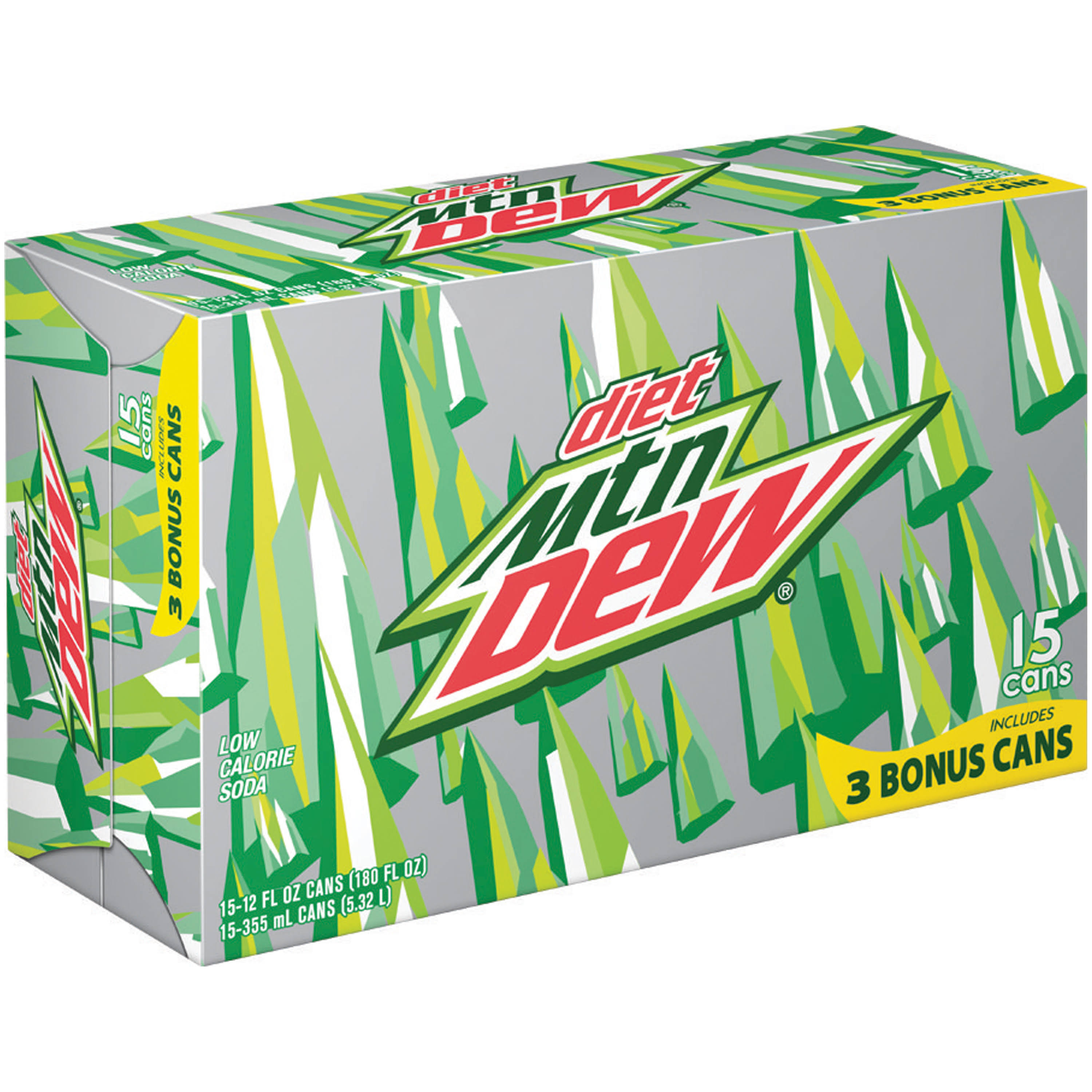 Mountain Dew Diet Soda - 12 x 12 Oz Pack