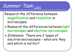 Title Magnification Lesson Objectives 1 Can I explain the