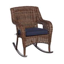 Hampton Bay Cambridge Brown Wicker Outdoor Rocking Chair With Blue ... Vintage White Wicker Rocking Chair Renewworks Home Decor Wisdom And Koenig Interior Iron Rocking Chair Designer Outdoor Villa Back Yard Rattan Alinum Chairs Lounge Rocker Agha Interiors Blue Heron Pines Homeowners Association Cape Cod Kampmann With Cushions Reviews Joss Coral Coast Mocha Resin Beige Cushion Terrace Leisure Fniture With High And Alinium Tortuga Portside Classic Wickercom Aliexpresscom Buy Giantex Patio