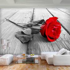 vlies fototapete blumen rot sepia grau tapete wandbilder wohnzimmer 68