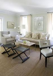 Neutral Cream Living Room With Seagrass Rug