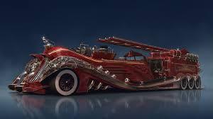 100 Fire Truck Wallpaper Steampunk Car Concept Red Fire Truck 1920x1080