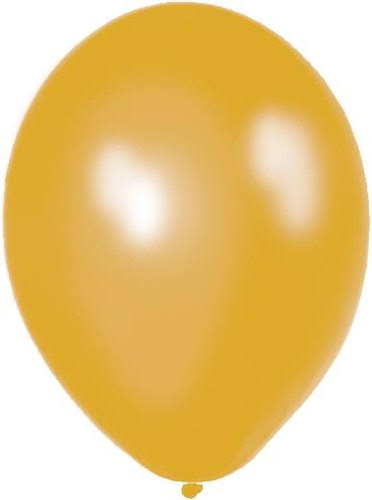 Latex Party Balloons - Metallic Gold