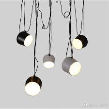 led lights aluminium aim white black e27 pendant l lights led