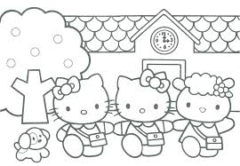 Hello Kitty Christmas Coloring Sheets S8422
