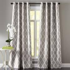 Moorish Tile Gray Grommet Curtain Dining Room
