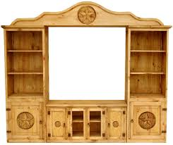 Houston Mexican Rustic Pine Entertainment Center