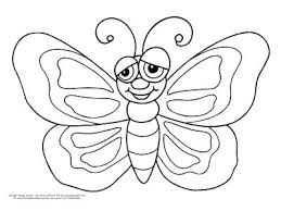 Butterflies Coloring Page Easy Smiley Face Butterfly Monarch Colouring Pages