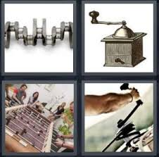 4 Pics 1 Word Answer for Engine Phonograph Foosball Turn