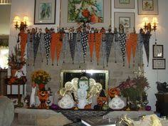 Halloween Fireplace Mantel Scarf by Sold One Of Kind Halloween Fireplace Mantel Scarf Halloween