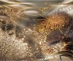 decomonkey fototapete pusteblume abstrakt 400x280 cm xl