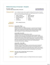 ResumeSample Resume Objectives For Medical Secretary New Samples Objective Objec Curriculum Vitae School Position