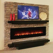 Image Of Rustic Electric Fireplaces Style