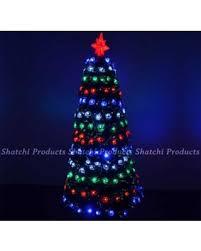 2ft 60cm Small Pre Lit LED Fibre Optic Christmas Tree With Snow Xmas Decoration