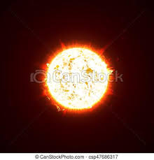 Burning Realistic 3d Sun Flashes Glare Flare Sparks Flames Heat And Fire Rays Orange Hot
