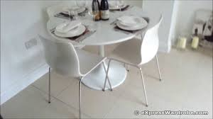 Ikea Snille Chair Hack by Ikea Docksta Table With Erland Chairs Dining Set Design Youtube