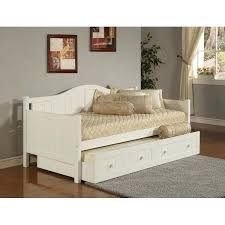 Pop Up Trundle Beds by Trundle Daybed Frame Furniture Trundle Daybed In White Coaster