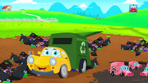 100 Garbage Trucks For Kids Five Little Ralph And Rocky Car Songs Nursery