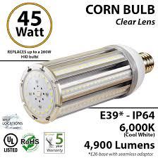 450w halogen hps equivalent 45w led light bulb 6000k 4900 lumens
