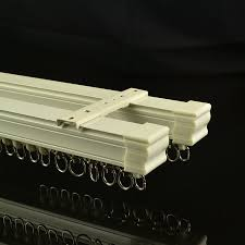 Flexible Curtain Track For Rv by Chr7922 Ivory Ceiling Mounted Double Curtain Tracks And Rails