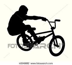 An Abstract Vector Illustration Of A BMX Rider During Bunny Hop